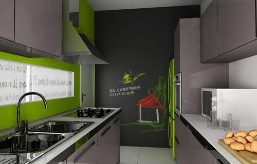 Vernice effetto lavagna oggettistica arredamento casa - Parete lavagna arredamento ...