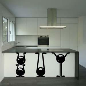 Adesivi da parete per decorare casa - Appendi pentole cucina ...