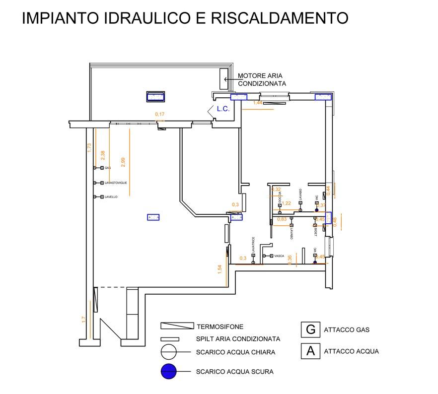 Schema impianto idrico casa decorare la tua casa - Impianto idraulico bagno schema ...