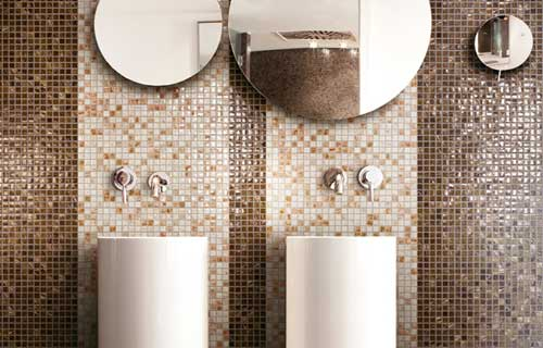 Bagno moderno wellness ed eleganza - Bagno piastrelle marroni ...