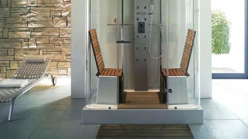 Bagno moderno wellness ed eleganza - Mosaico per bagno turco ...