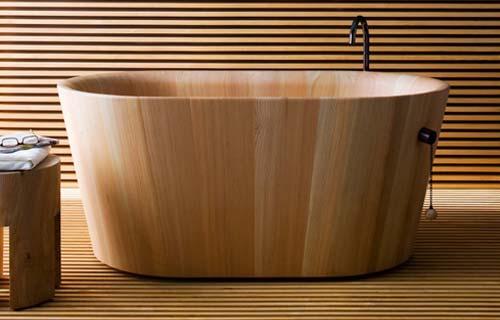 Vasche da bagno panoramica su tipi e materiali - Vasca bagno legno ...