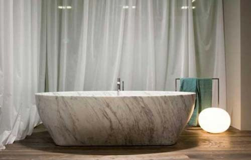 Vasche da bagno panoramica su tipi e materiali - Vasca da bagno in pietra ...