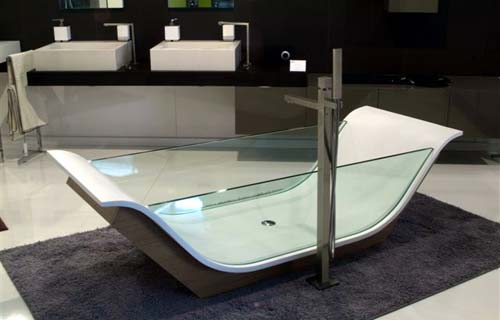 Vasche da bagno panoramica su tipi e materiali - Vasca da bagno in vetro ...