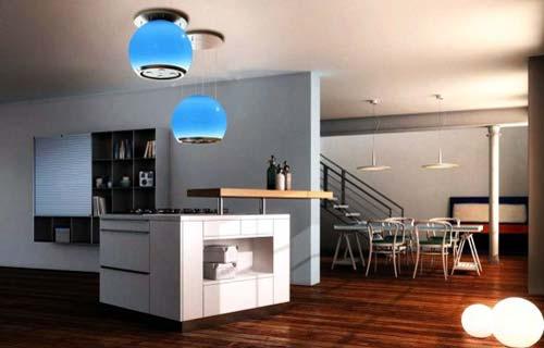 cappe aspiranti il design in cucina cucine moderne. Black Bedroom Furniture Sets. Home Design Ideas