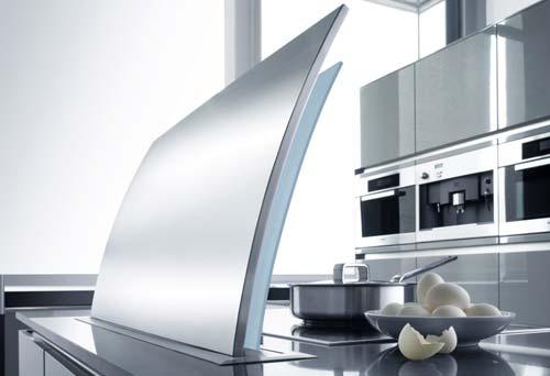 Cappe aspiranti il design in cucina cucine moderne - Cappe cucina sospese ...