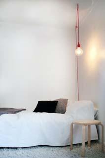 Attacco per lampada a filo lungo