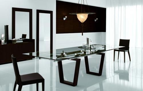 Sala da pranzo moderna materiali colori e illuminazione - Tavolo sala da pranzo ...