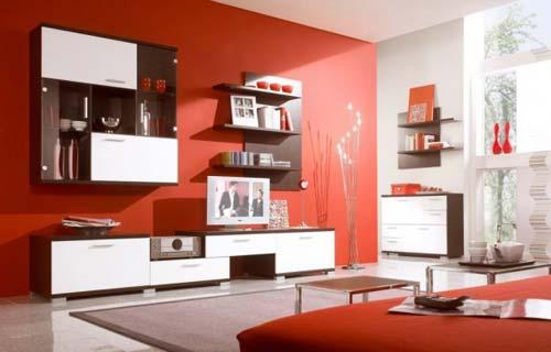 Salotti Moderni Rossi : I colori del salotto