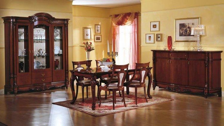 Sala da pranzo classica salotto living for Tende per salone