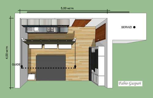 Idea progettuale per monolocale 24mq for Monolocale di 40 mq