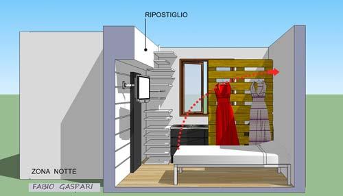 Progetto per monolocale 7mq - Arredare cameretta 9 mq ...