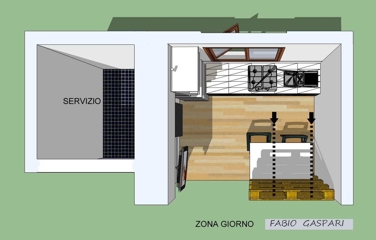Progetto per monolocale 7mq - Mobili a scomparsa per monolocali ...
