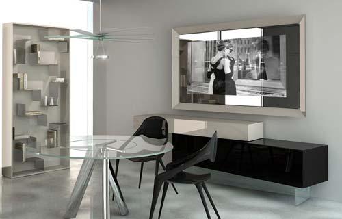 Staccionata in legno bricoman - Specchio con tv ...