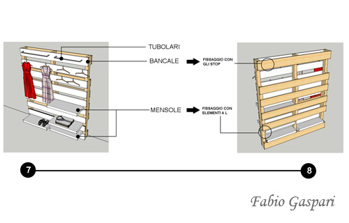 Armadio in pallet come costruirlo for Cabina armadio low cost
